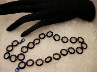 Black Ringed Necklace