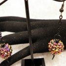 Copper Bead Chain Earrings