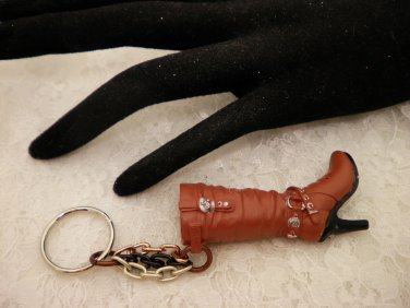 Brown Boot Key Chain
