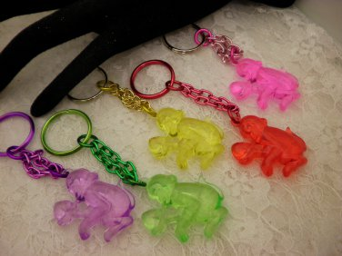 Cool Colored Monkey Key Chains Choose Your Color