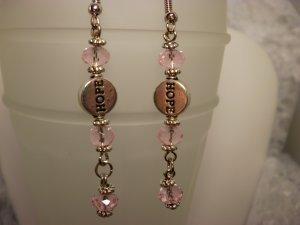 Breast Cancer Crystal Earrings