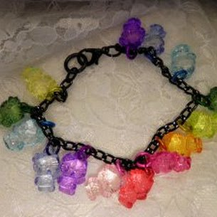 Kitty Colored Charm Bracelet