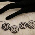 Black Swirled Earrings