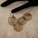 Bronze Swirled Earrings