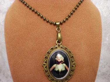 Marilyn Monroe Cameo Necklace