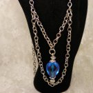 Chained Crystal Blue Necklace