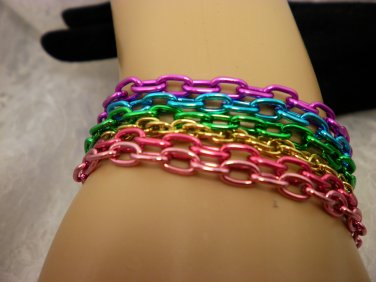 Colored Chain Bracelet