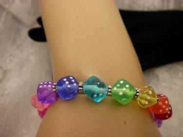 Colored Dice Bracelet