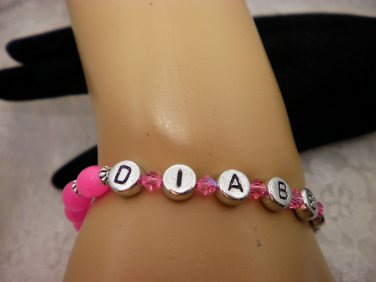 Pink Diabetic Bracelet Choose Your Color