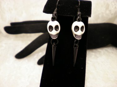 Skull Spiked Earrings