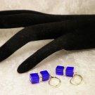 Cool Blue Cubed Crystal Earrings