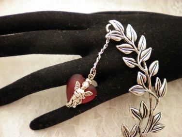Silver Leaf Charmed Book Mark