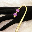 Golden Beaded Book Mark