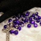 Purple Cats Eye Beaded Rosaries