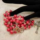 Red Pearled Rosaries