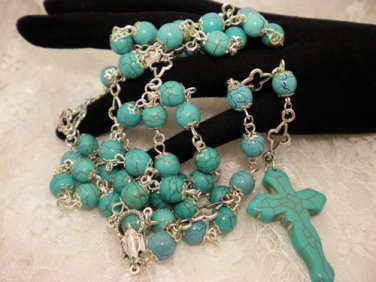 Blue Turquoise Beaded Rosaries