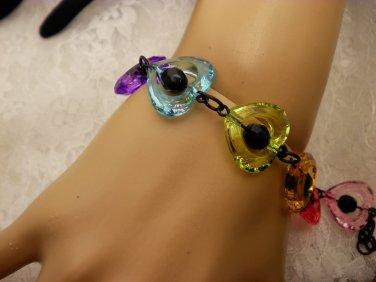 Black Beaded Heart Bracelet
