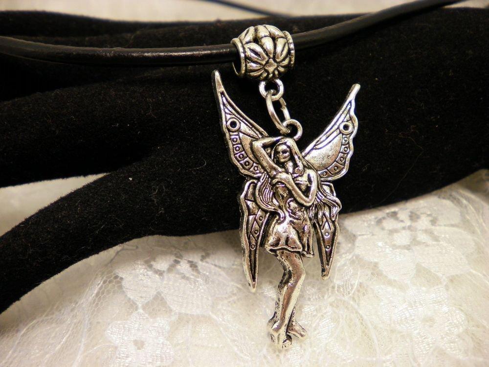 Gothic Goddess Fairy Pendant Necklace