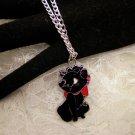 Black Kitty Charm Necklace