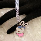 Cool Love Bunny Charm Necklace