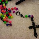 Custom Made Catholic Neon Or Floresence Beaded Rosary Beads or Prayer Beads