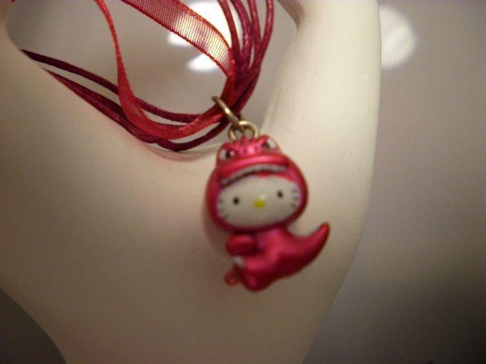Hello Kitty Red Dinosaur Necklace