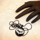 Comic Book Batman Style  Black Framed Glass Pendant Necklace Choose Your Hero