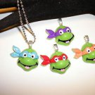 Teenage Mutant Ninja Tutrles Cabochon Ball Chain Pendant Necklaces Choose ONE