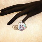 Gothic Monster High Doll Cabochon Silver Framed Pendant Necklace Kids Jewelry