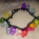 Handmade Black Chain Hello Kitty Charms Colored Charmed Bracelet