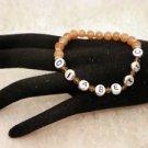 Customized Awareness Brown Diabetic ALERT Or Personal Name Beaded Bracelet