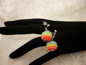 Rainbow Pride Awareness Beaded Studded Surgical Steel Earrings