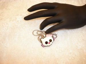 Resin Hello Kitty Gothic Charm Pendant Necklace Ball Chain