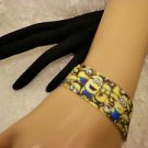 Handmade Ribbon MINIONS Characters Band Bracelet Crimped End Caps