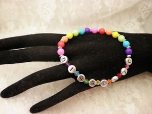 Handmade  Colorful ID Diabetic ALERT Or Personal Name Bracelet Choose Your Color