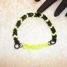 Handmade DREAM word Connector Black & Yellow Bandz Stretch Bracelet