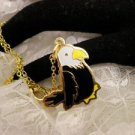 """RARE"" TY Beannie Eagle Golden Charm Necklace Birds kids Jewelry Last ONE"