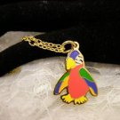 """RARE"" TY Beannie Colorful MC CAW Bord Golden Charm Necklace Kids Jewelry"