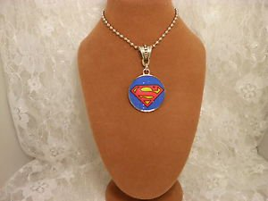 "Super Hero 1"" Pendant With Silver Ball Chain Spiderman Batman Superman ONE Only"