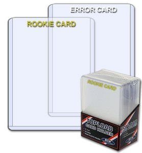 3 X 4 Topload Card Holder -ROOKIE CARD Imprinted