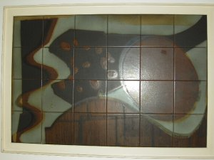 A1960s, Art Piece painted and glazed over Ceramic