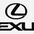 Lexus Car Emblem 3 sizes Digitized Machine Embroidery Design EMAIL DELIVERY