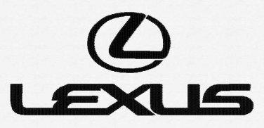 Lexus Car Emblem 3 sizes Digitized Machine Embroidery Design EMAIL DELIVERY