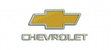 Chevrolet Car Emblem 5 sizes Digitized Machine Embroidery Design EMAIL DELIVERY