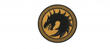 Dragon Army Ender's Game 3 Sizes Digitized Filled Machine Embroidery Design EMAIL DELIVERY