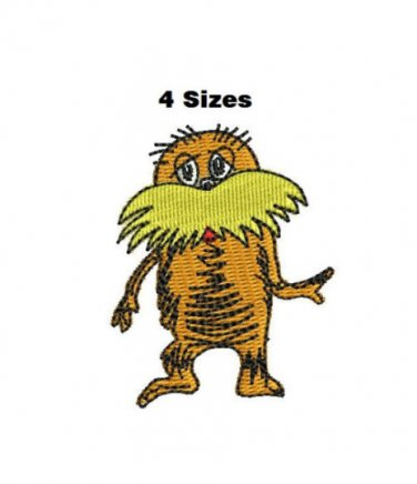 Lorax 4 Sizes Included Digitized Filled Machine Embroidery Design Email Delivery Only