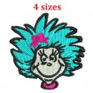 Thing Girl face 4 Sizes Included Digitized Filled Machine Embroidery Design Email Delivery Only