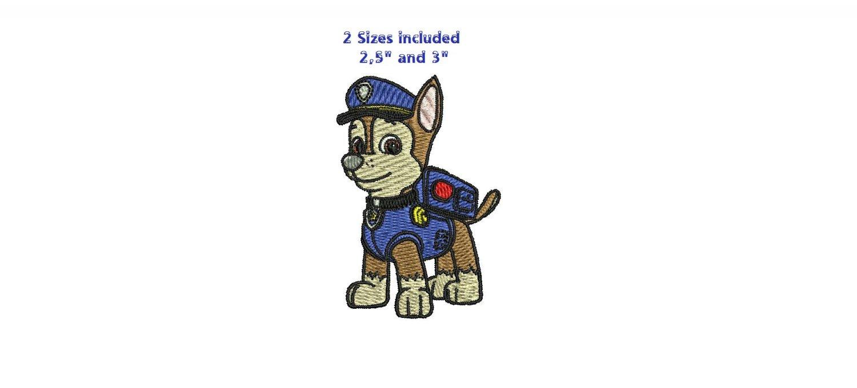 Paw Patrol Dog Zuma Chase Skye Rubble Marshall Rocky SMALL SIZE Digitized Machine Embroidery Designs