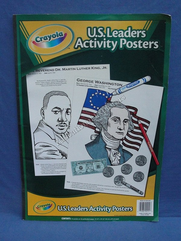 Crayola U.S. Activity Posters Presidents Leaders Coloring Pages United States
