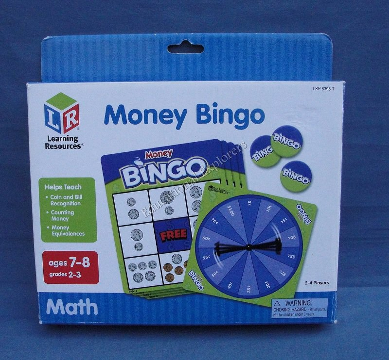 Money Bingo Learning Resources Math Counting Coins Bills